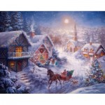 Puzzle  Ravensburger-13581 XXL Pieces - Dashing Through the Snow