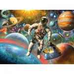 Puzzle  Ravensburger-13612 XXL Piecs - Star Line - Space Trip