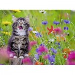 Puzzle  Ravensburger-13616 XXL Pieces - Cat in the Flower Sea
