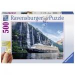 Ravensburger-13647 XXL Jigsaw Puzzle - Mein Schiff 4 im Fjord