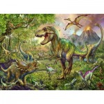 Puzzle  Ravensburger-13668 XXL Pieces - Dinosaurs