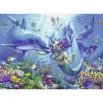 Puzzle  Ravensburger-13678 Luminous Underwater Paradise
