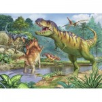 Puzzle  Ravensburger-13695 XXL Pieces - World of Dinosaurs
