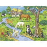 Puzzle  Ravensburger-13696 XXL Pieces - Dearest Farm Animals