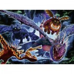 Puzzle  Ravensburger-13710 Color Star Line - XXL Pieces - Dragon