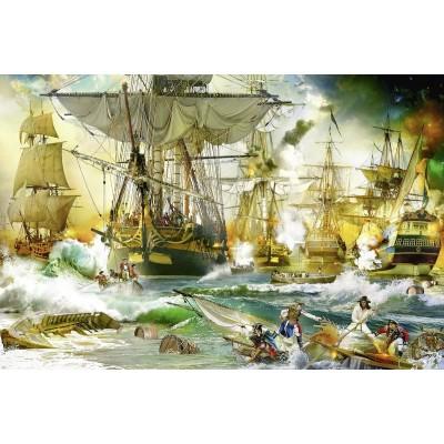 Puzzle Ravensburger-13969 Battle on the High Seas