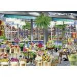 Puzzle  Ravensburger-13987 Amsterdam Flower Market