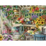 Puzzle  Ravensburger-13996 Idyllic Garden