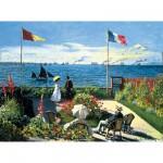 Ravensburger-14020 Jigsaw Puzzle - 300 Pieces - Monet : Garden at Sainte-Adresse