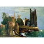 Ravensburger-14022 Jigsaw Puzzle - 300 Pieces - Arnold Böcklin : Ruins by the Sea