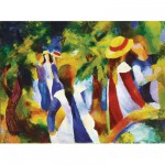Ravensburger-14024 Jigsaw Puzzle - 300 Pieces - Macke : Girls under Trees