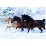 Ravensburger-14140 Jigsaw Puzzle - 500 Pieces - Galloping in the Snow