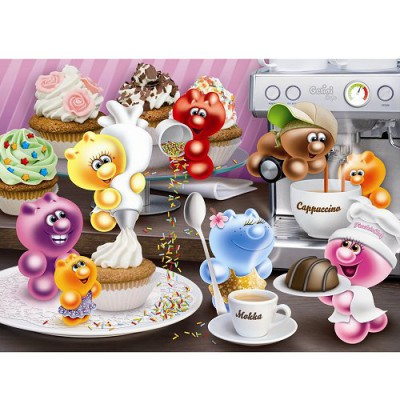 Ravensburger-14144 Jigsaw Puzzle - 500 Pieces - Gelini : Coffee Time