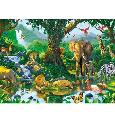 Ravensburger-14171 Jigsaw Puzzle - 500 Pieces - Harmony in the Savannah
