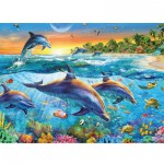 Puzzle  Ravensburger-14210 Dolphins