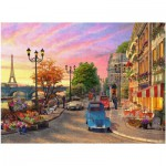 Puzzle  Ravensburger-14505 Dominic Davison: Evening in Paris