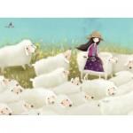 Puzzle  Ravensburger-14686 Kori Kumi - Buttercup Meadow