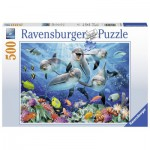 Puzzle  Ravensburger-14710 Dolphins in the Coral Reef