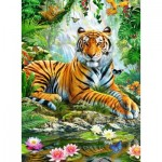 Puzzle  Ravensburger-14742 Tiger in the Jungle