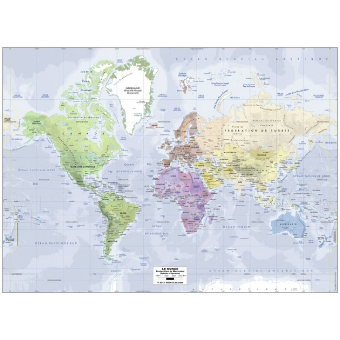 Map of the World (in French)