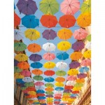 Puzzle  Ravensburger-14765 Colorful Umbrellas