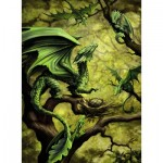 Puzzle  Ravensburger-14789 Forest Dragon By Anne Stokes
