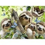 Puzzle  Ravensburger-14790 Sloth Selfie