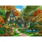 Puzzle  Ravensburger-14792 Cottage in the Fall