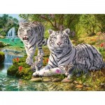 Puzzle  Ravensburger-14793 White Tiger Family