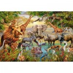 Puzzle  Ravensburger-14809 Animals at the Waterhole
