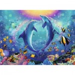 Puzzle  Ravensburger-14811 Dance of the Dolphins