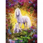 Puzzle  Ravensburger-14825 Unicorn with Foal