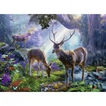 Puzzle  Ravensburger-14828 Deer in the Forest
