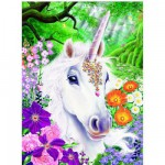 Ravensburger-14850 Jigsaw Puzzle - 500 Pieces - Unicorn in the Land of Flowers