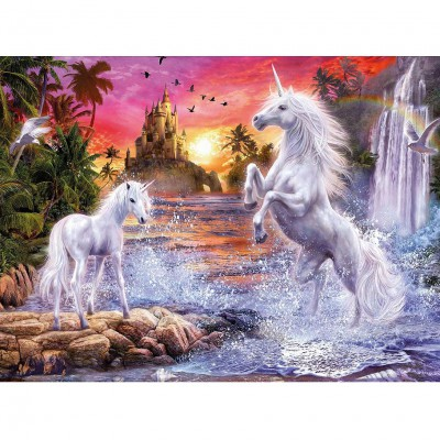 Ravensburger-14873 Jigsaw Puzzle - 500 Pieces - Glow in the Dark - Star Line : Beautiful Unicorns