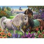 Puzzle  Ravensburger-14911 Glittering Horse Couple, Brilliant