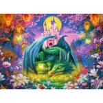 Puzzle  Ravensburger-14931 Glow in the Dark - In the Dragon Forest