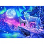 Puzzle  Ravensburger-14952 Star Line - Wolf