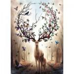 Puzzle  Ravensburger-15018 Fantastic Deer