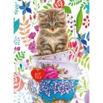 Puzzle  Ravensburger-15037 Kitten in a Cup