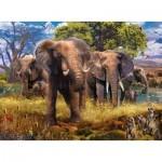 Puzzle  Ravensburger-15040 Elephant Family
