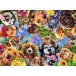 Puzzle  Ravensburger-15042 Funny Animal Selfie