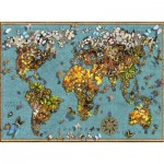 Puzzle  Ravensburger-15043 Butterfly World Map