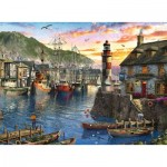 Puzzle  Ravensburger-15045 Sunrise at the Port