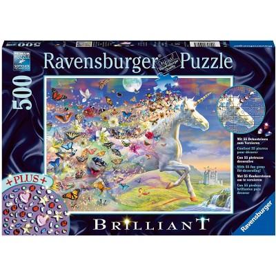 Ravensburger-15046 Brilliant Puzzle - Butterfly Unicorn