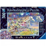 Ravensburger-15046 Brilliant Puzzle - Butterfly Unicorn