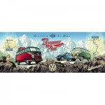 Puzzle  Ravensburger-15102 With the VW Bulli over the Brenner