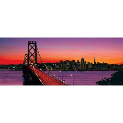 Ravensburger-15104 Jigsaw Puzzle - 1000 Pieces - Panoramic - Oakland Bay Bridge, San Francisco