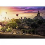 Puzzle  Ravensburger-15153 Balloons on Myanmar