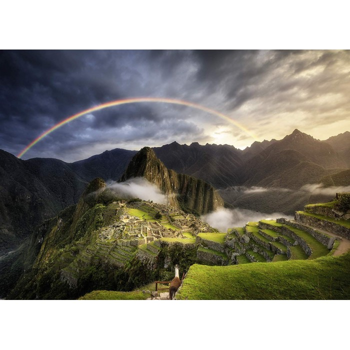 Rainbow on Machu Picchu, Peru